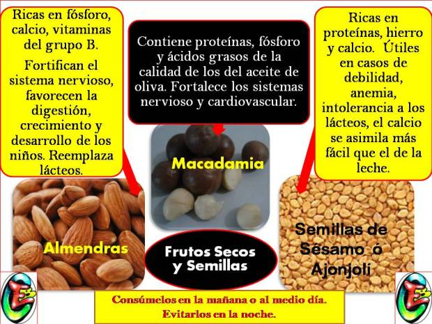 Frutos secos y semillas